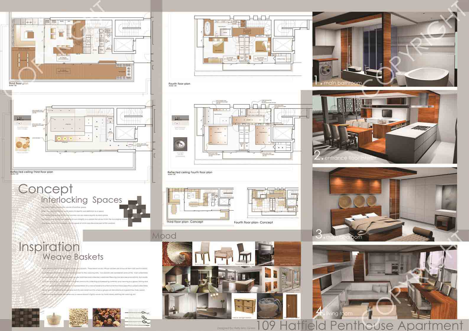 Interlocking spaces for Interlocking architecture concept